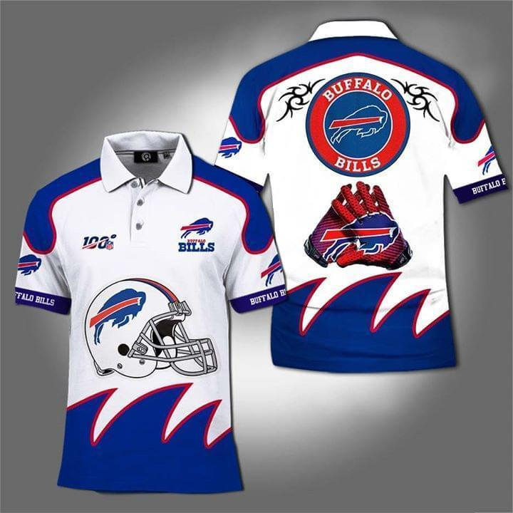 100th Nfl Buffalo Bills For Football Fan Polo 3d Printed Polo 3d Graphic Printed Tshirt Hoodie Up To 5xl