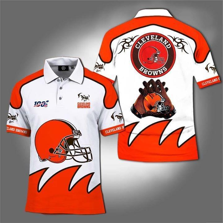 100th Nfl Cleveland Browns For Football Fan Polo 3d Printed Polo 3d Graphic Printed Tshirt Hoodie Up To 5xl