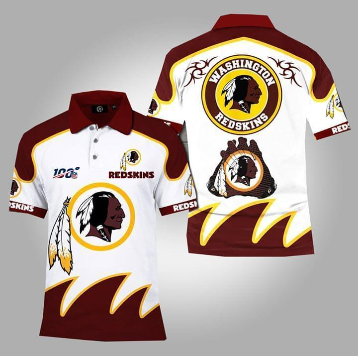 100th Nfl Washington Redskins Polo 3d Printed Polo 3d Graphic Printed Tshirt Hoodie Up To 5xl