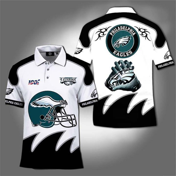 100th Philadelphia Eagles For Eagles Fan Polo 3d Printed Polo 3d Graphic Printed Tshirt Hoodie Up To 5xl