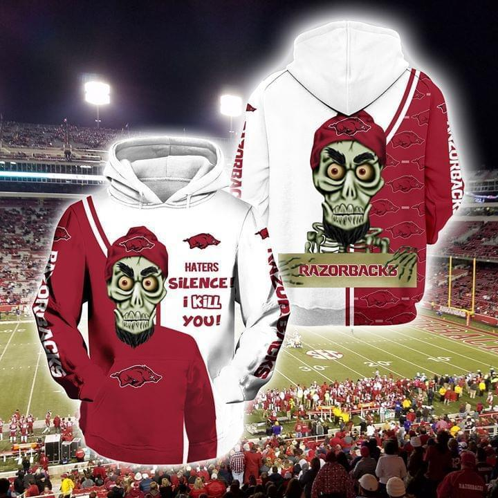 Achmed The Dead Terrorist Arkansas Razorbacks Haters Silence I Kill You 3d Printed Hoodie 3d 3d Graphic Printed Tshirt Hoodie Up To 5xl
