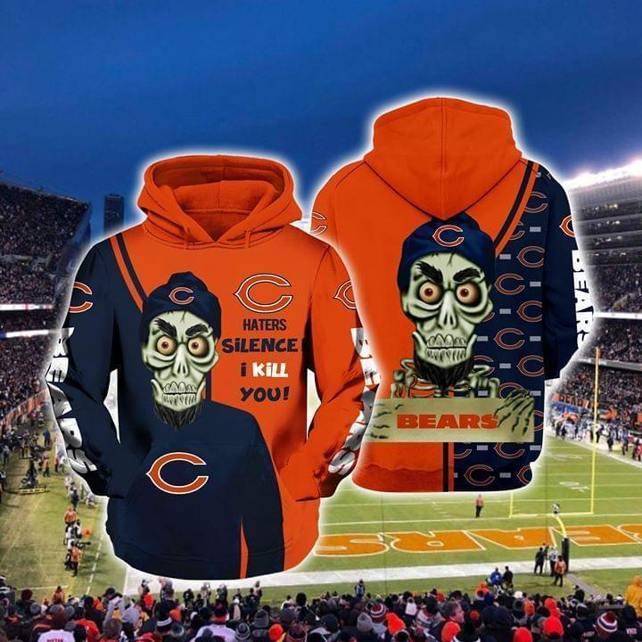 Achmed The Dead Terrorist Chicago Bears Haters Silence I Kill You 3d Printed Hoodie 3d 3d Graphic Printed Tshirt Hoodie Up To 5xl