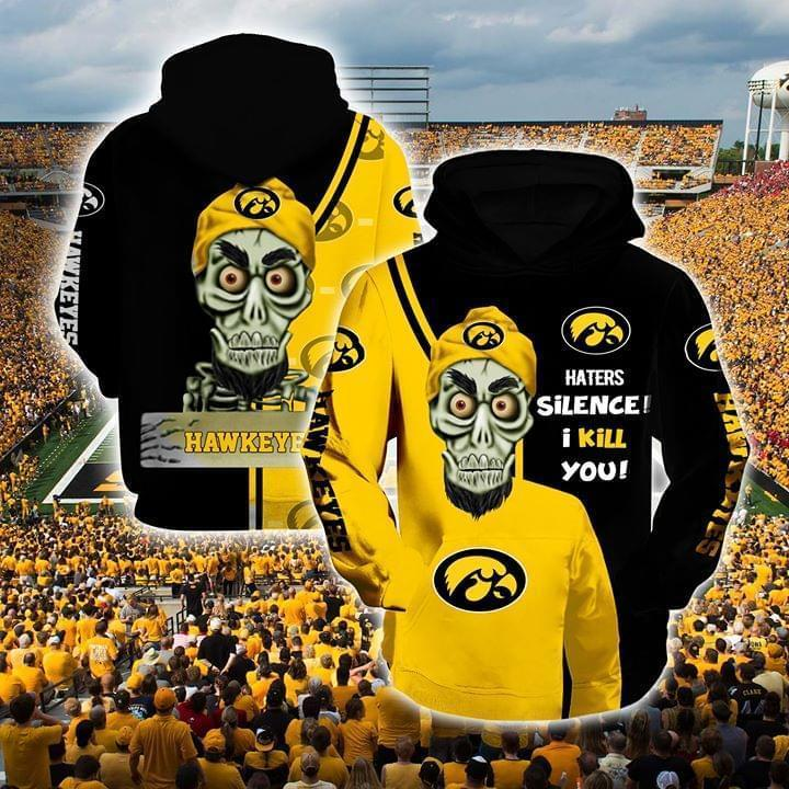 Achmed The Dead Terrorist Iowa Hawkeyes Haters Silence I Kill You 3d Printed Hoodie 3d 3d Graphic Printed Tshirt Hoodie Up To 5xl