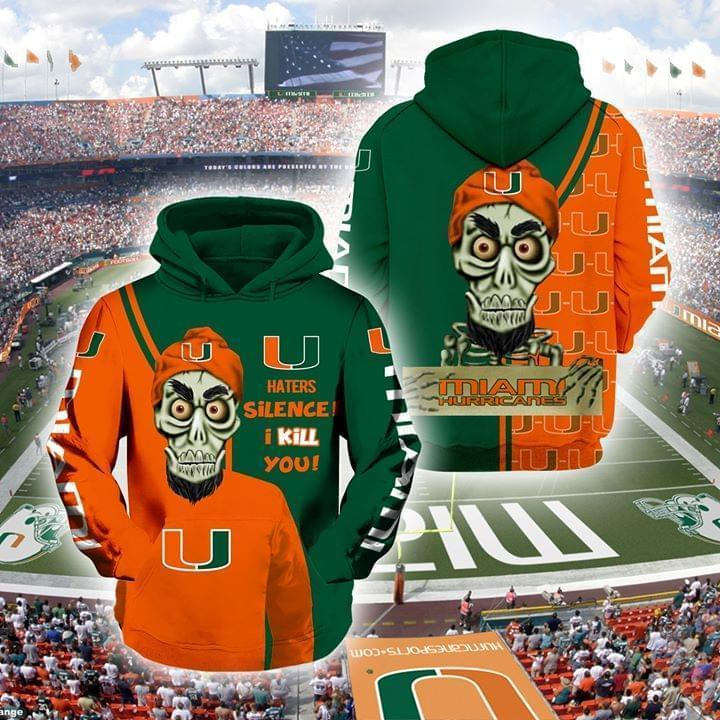 Achmed The Dead Terrorist Miami Hurricanes Haters Silence I Kill You 3d Printed Hoodie 3d 3d Graphic Printed Tshirt Hoodie Up To 5xl