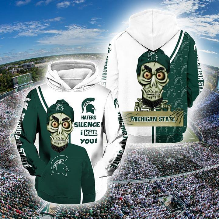 Achmed The Dead Terrorist Michigan State Spartans Haters Silence I Kill You 3d Printed Hoodie 3d 3d Graphic Printed Tshirt Hoodie Up To 5xl