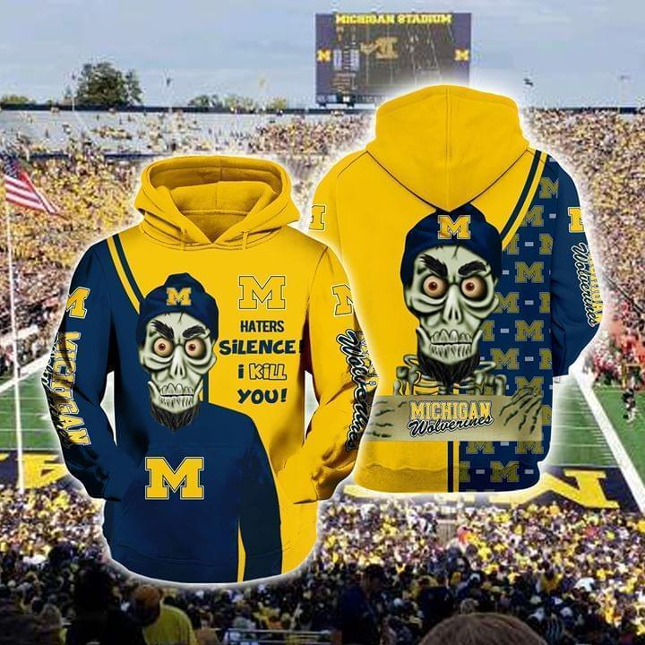 Achmed The Dead Terrorist Michigan Wolverines Haters Silence I Kill You 3d Printed Hoodie 3d 3d Graphic Printed Tshirt Hoodie Up To 5xl