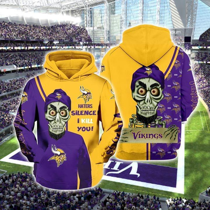 Achmed The Dead Terrorist Minnesota Vikings Haters Silence I Kill You 3d Printed Hoodie 3d 3d Graphic Printed Tshirt Hoodie Up To 5xl