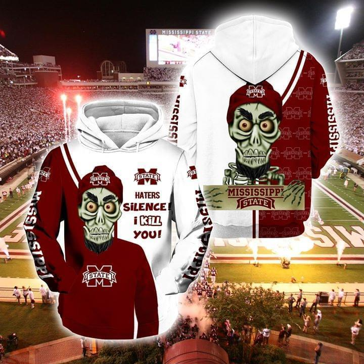 Achmed The Dead Terrorist Mississippi State Bulldogs Haters Silence I Kill You 3d Printed Hoodie 3d 3d Graphic Printed Tshirt Hoodie Up To 5xl