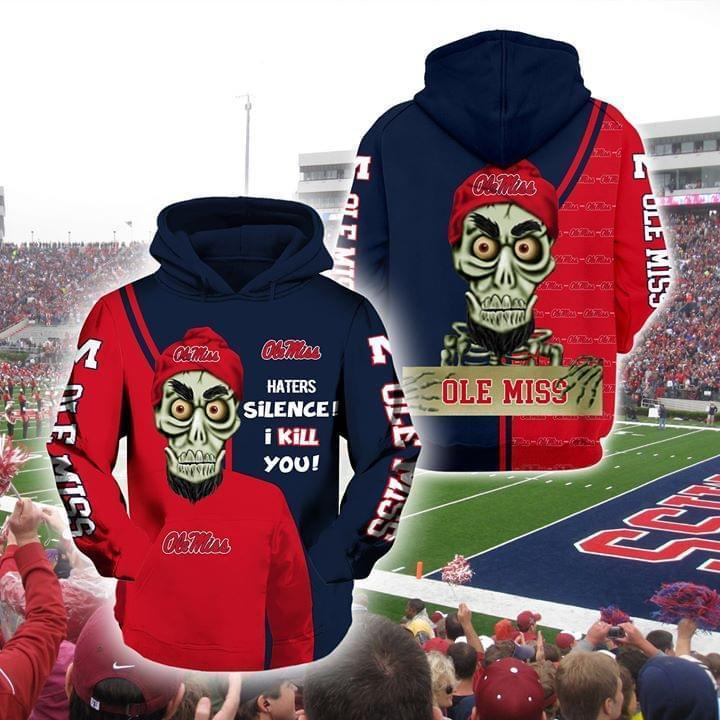 Achmed The Dead Terrorist Ole Miss Rebels Haters Silence I Kill You 3d Printed Hoodie 3d 3d Graphic Printed Tshirt Hoodie Up To 5xl