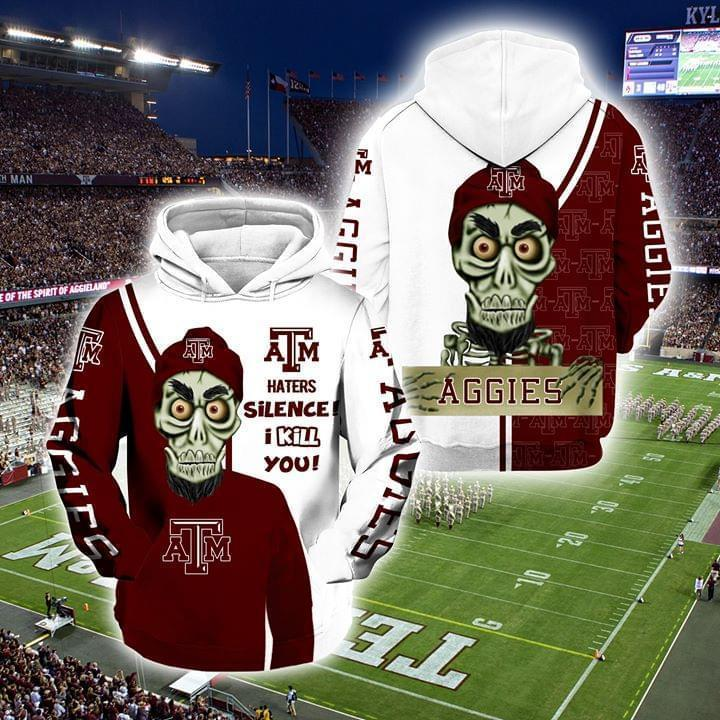 Achmed The Dead Terrorist Texas A M Aggies Haters Silence I Kill You 3d Printed Hoodie 3d 3d Graphic Printed Tshirt Hoodie Up To 5xl