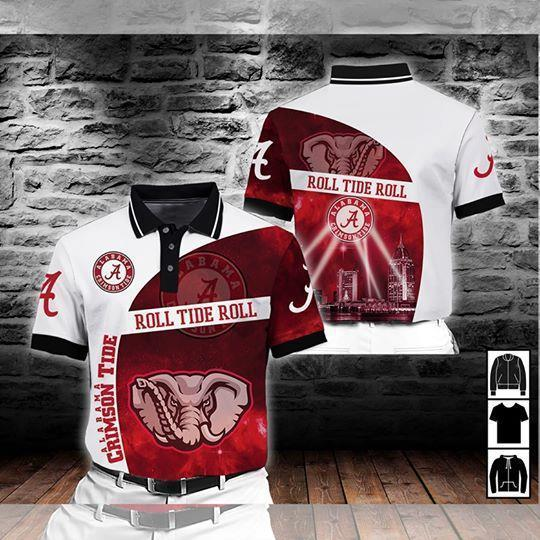 Alabama Crimson Tide Ncaa For Tide Fan Polo 3d Printed Polo 3d Graphic Printed Tshirt Hoodie Up To 5xl