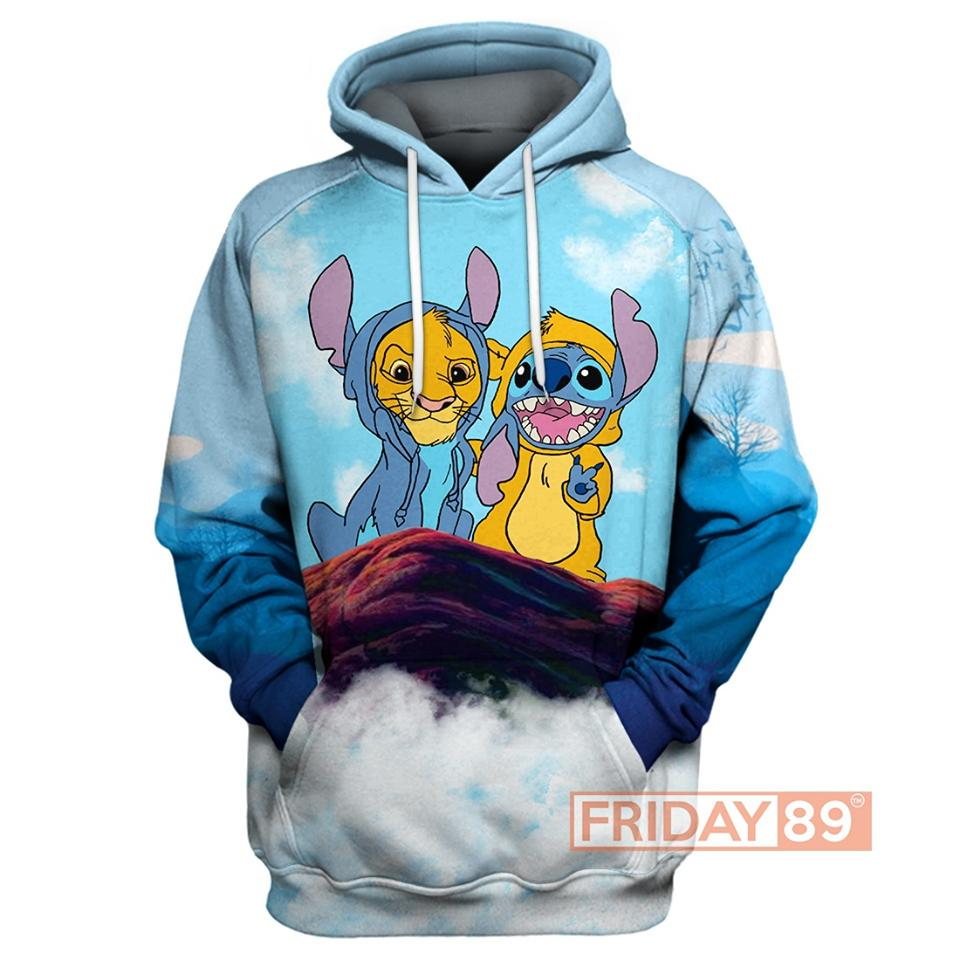 Baby simba and stitch 3d hoodie us7