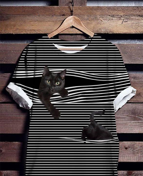 Cat White Line 3d Full Printed Shirt 3d Graphic Printed Tshirt Hoodie Up To 5xl