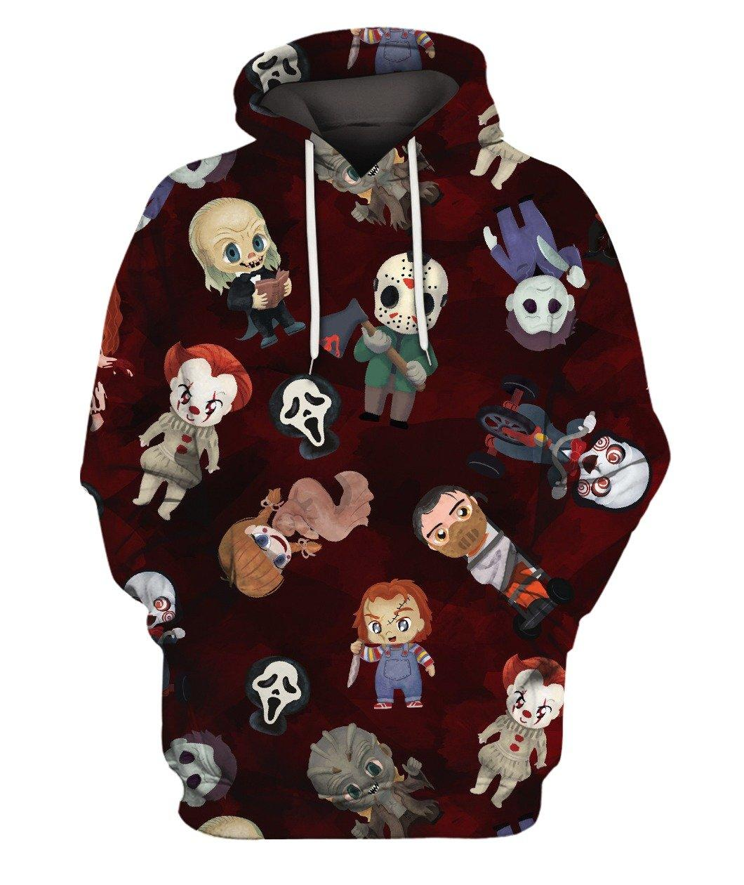 Chibi Halloween Characters Full 3d Hoodie 3d Graphic Printed Tshirt Hoodie Up To 5xl