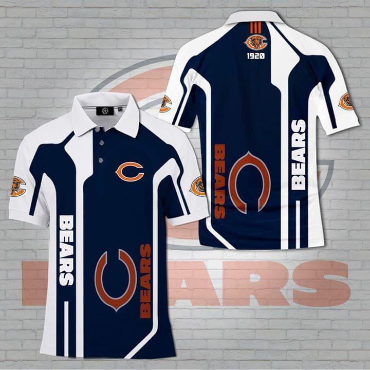 Chicago Bears For Bears Lover Polo 3d Printed Polo 3d Graphic Printed Tshirt Hoodie Up To 5xl