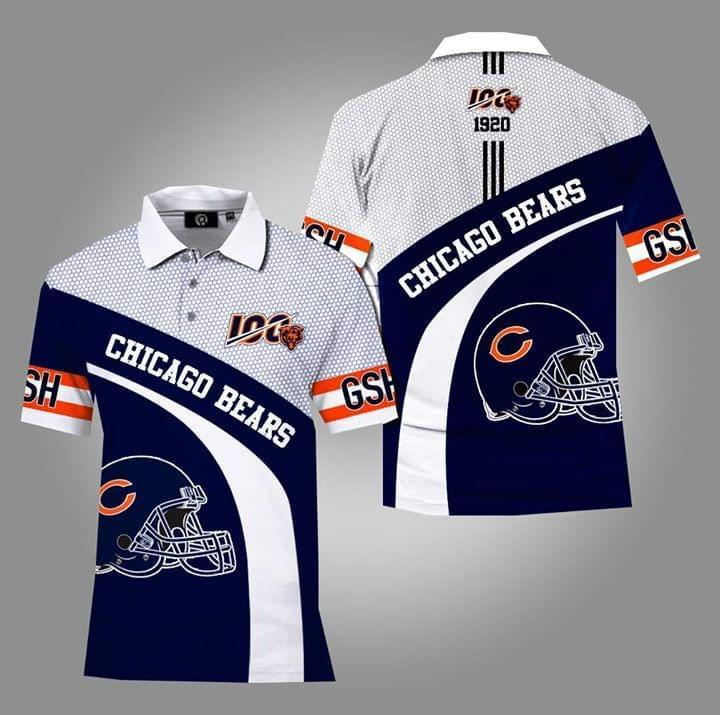 Chicago Bears Nfl Fan 3d Printed Polo 3d Graphic Printed Tshirt Hoodie Up To 5xl