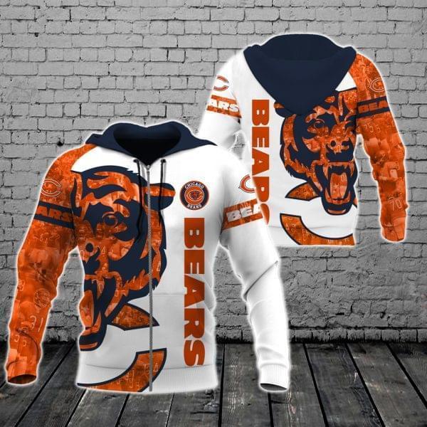 Chicago Bears Nfl For Bears Fan 3d Printed Zip Hoodie 3d 3d Graphic Printed Tshirt Hoodie Up To 5xl