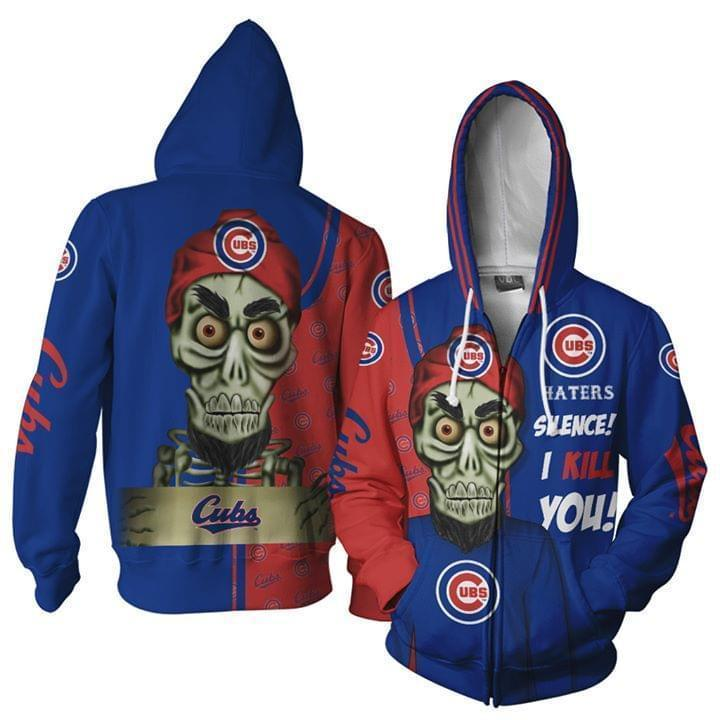 Chicago Cubs Hater Silence I Kill You Achmed 3d Zip Hoodie 3d Graphic Printed Tshirt Hoodie Up To 5xl