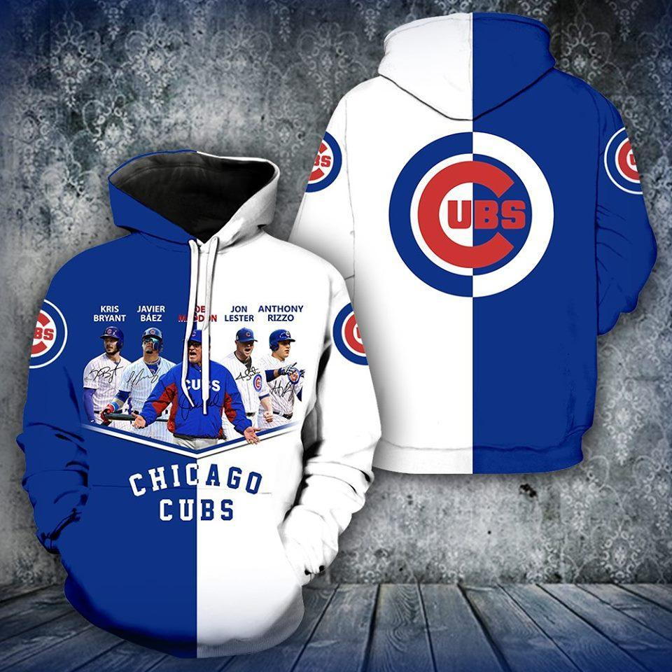 Chicago Cubs Kris Bryant Javier Baer Jon Lester Anthony Rizzo 3d Printed Hoodie 3d Graphic Printed Tshirt Hoodie Up To 5xl