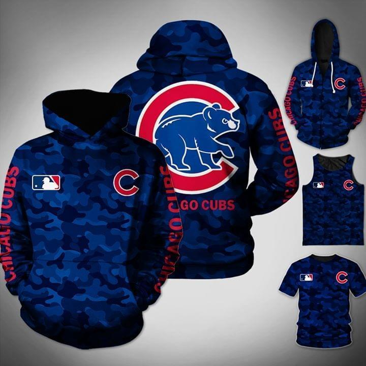 Chicago Cubs Mlb Camo Pattern 3d Printed Hoodie 3d Graphic Printed Tshirt Hoodie Up To 5xl