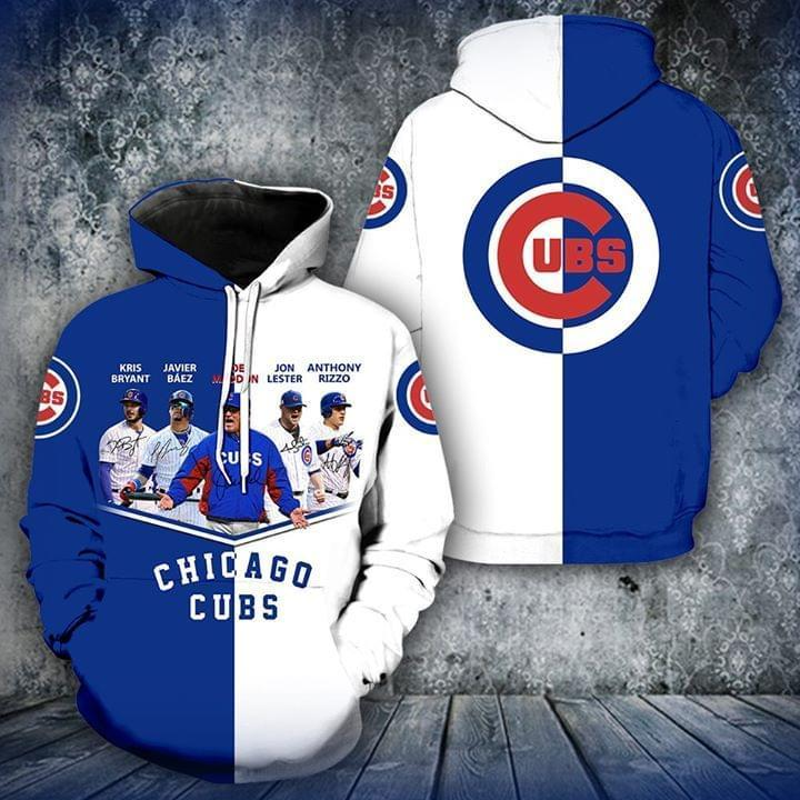 Chicago Cubs Signed 3d Printed Hoodie 3d Graphic Printed Tshirt Hoodie Up To 5xl