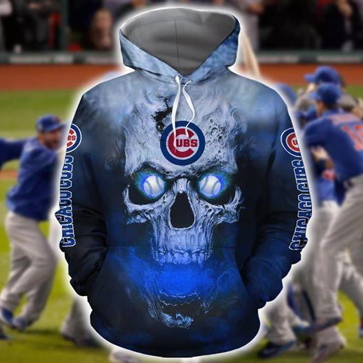 Chicago Cubs Skull On Fire 3d Printed Hoodie 3d 3d Graphic Printed Tshirt Hoodie Up To 5xl
