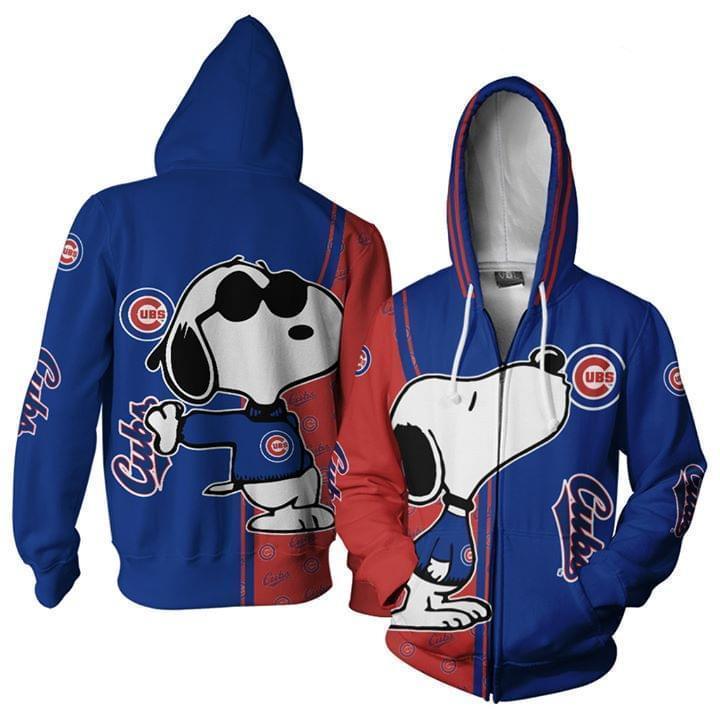 Chicago Cubs Snoopy Kiss 3d Printed Zip Hoodie 3d 3d Graphic Printed Tshirt Hoodie Up To 5xl