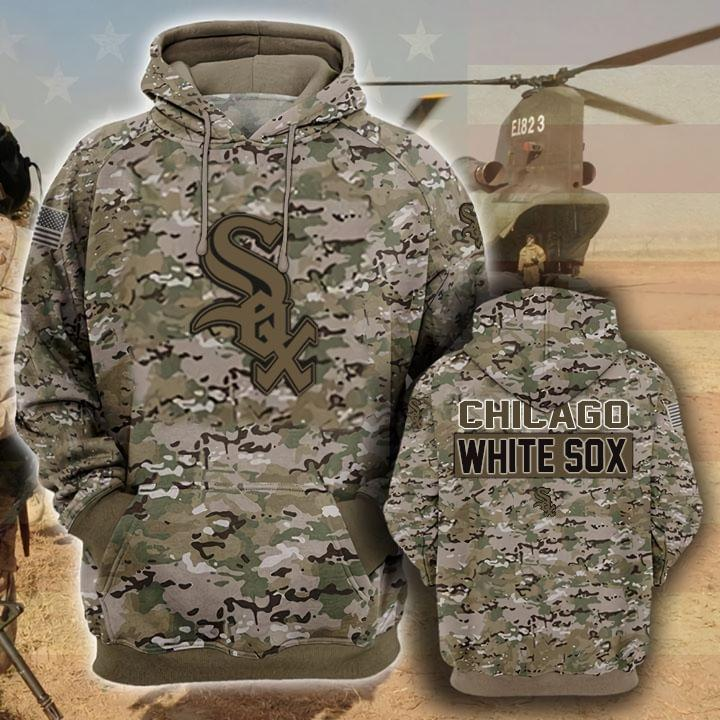 Chicago White Sox Camouflage Veteran 3d Hoodie 3d Graphic Printed Tshirt Hoodie Up To 5xl