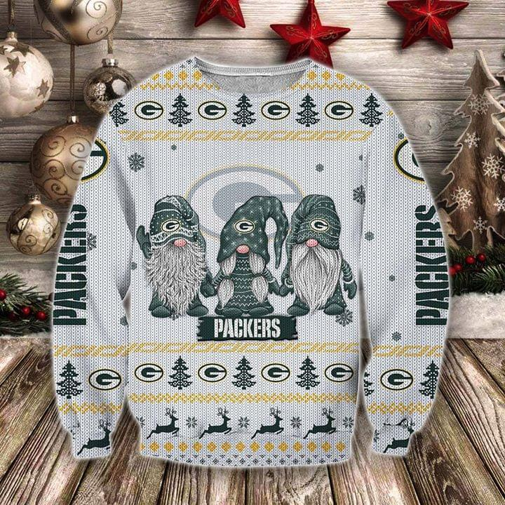 Christmas Gnomes Green Bay Packers Ugly Christmas 3d Printed Sweatshirt 3d 3d Graphic Printed Tshirt Hoodie Up To 5xl
