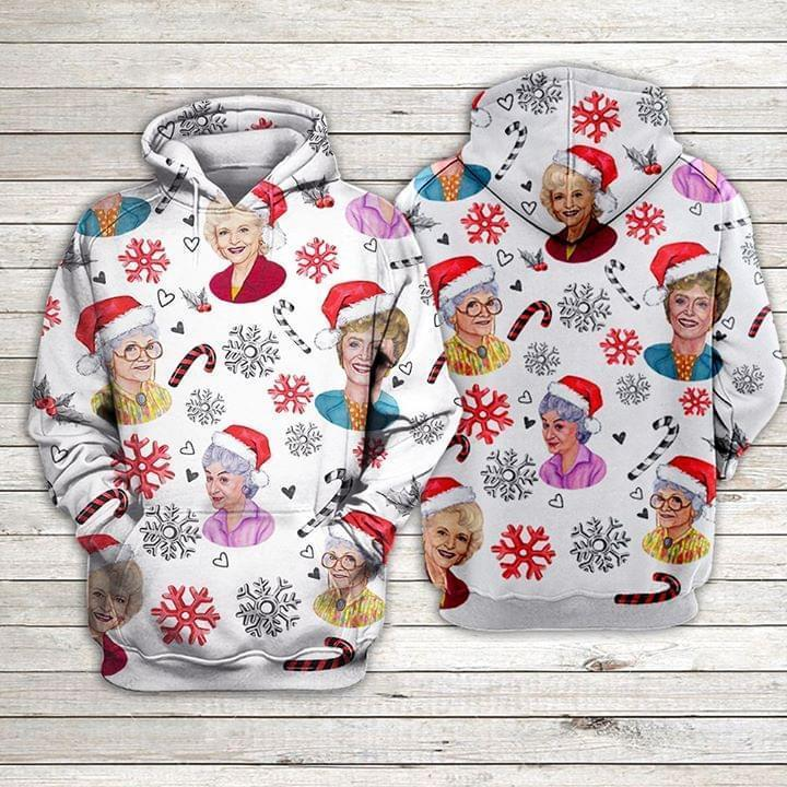 Christmas Golden Girls Christmas Fan 3d Hoodie 3d Graphic Printed Tshirt Hoodie Up To 5xl