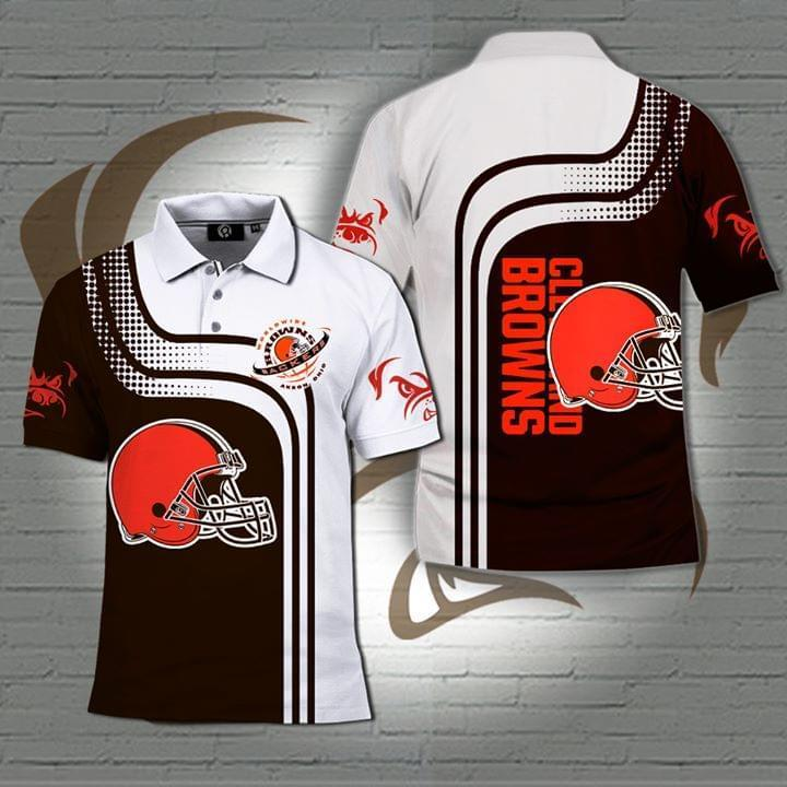 Cleveland Browns Nfl 3d Printed Polo 3d Graphic Printed Tshirt Hoodie Up To 5xl