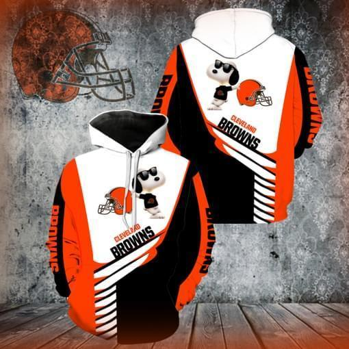 Cleveland Browns Snoopy 3d Printed Hoodie 3d 3d Graphic Printed Tshirt Hoodie Up To 5xl