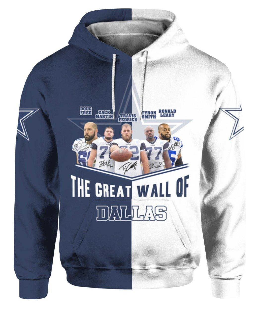 Dallas Cowboy Player The Great Wall Of Dallas 3d Full Printed Shirt 3d Graphic Printed Tshirt Hoodie Up To 5xl