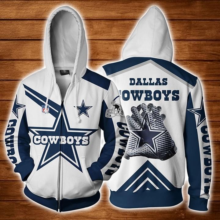 Dallas Cowboys Fan 3d Zip Hoodie Zip Hoodie 3d 3d Graphic Printed Tshirt Hoodie Up To 5xl