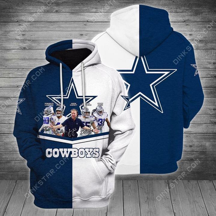 Dallas Cowboys Scott Linehan Dak Prescott Byron Jones Signatures Hoodie Hoodie 3d 3d Graphic Printed Tshirt Hoodie Up To 5xl