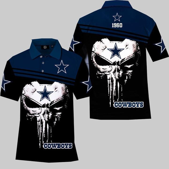 Dallas Cowboys Skull Nfl Fan 3d Printed Polo 3d Graphic Printed Tshirt Hoodie Up To 5xl