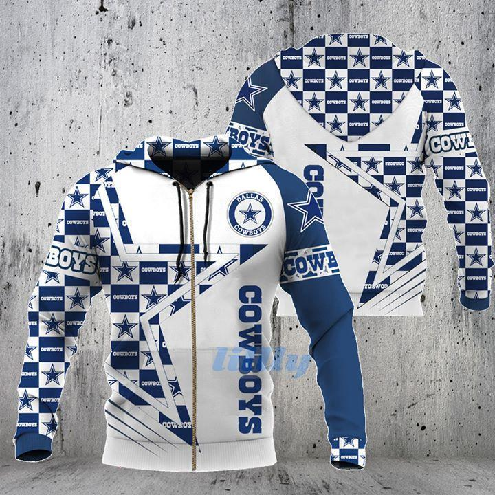 Dallas Cowboys Stars For Fan 3d Zip Hoodie 3d Graphic Printed Tshirt Hoodie Up To 5xl