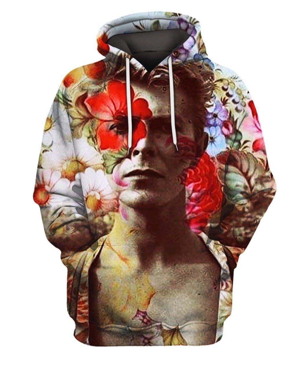 David Bowie Flower 3d Full Printed Hoodie 3d Graphic Printed Tshirt Hoodie Up To 5xl