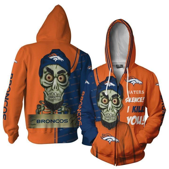 Denver Broncos Hater Silence I Kill You Achmed 3d Zip Hoodie 3d Graphic Printed Tshirt Hoodie Up To 5xl