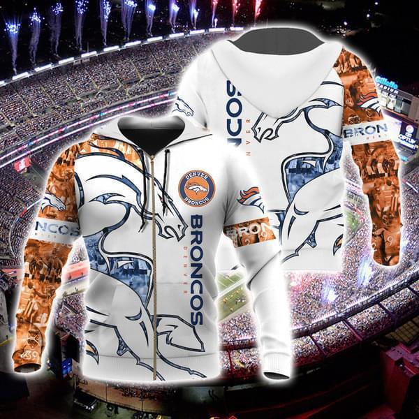 Denver Broncos Nfl For Broncos Fan 3d Printed Zip Hoodie 3d 3d Graphic Printed Tshirt Hoodie Up To 5xl