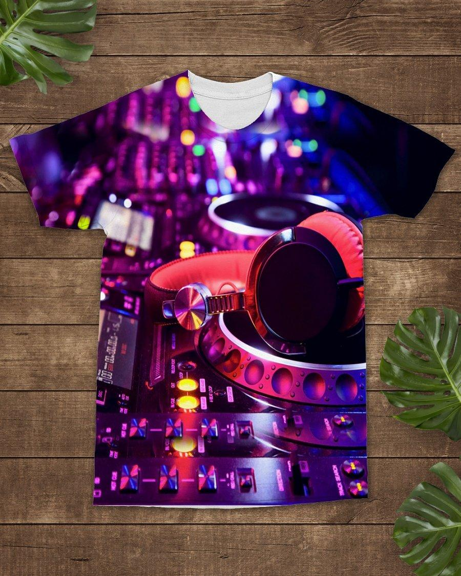 Dj Controller Full 3d Shirt 3d Graphic Printed Tshirt Hoodie Up To 5xl