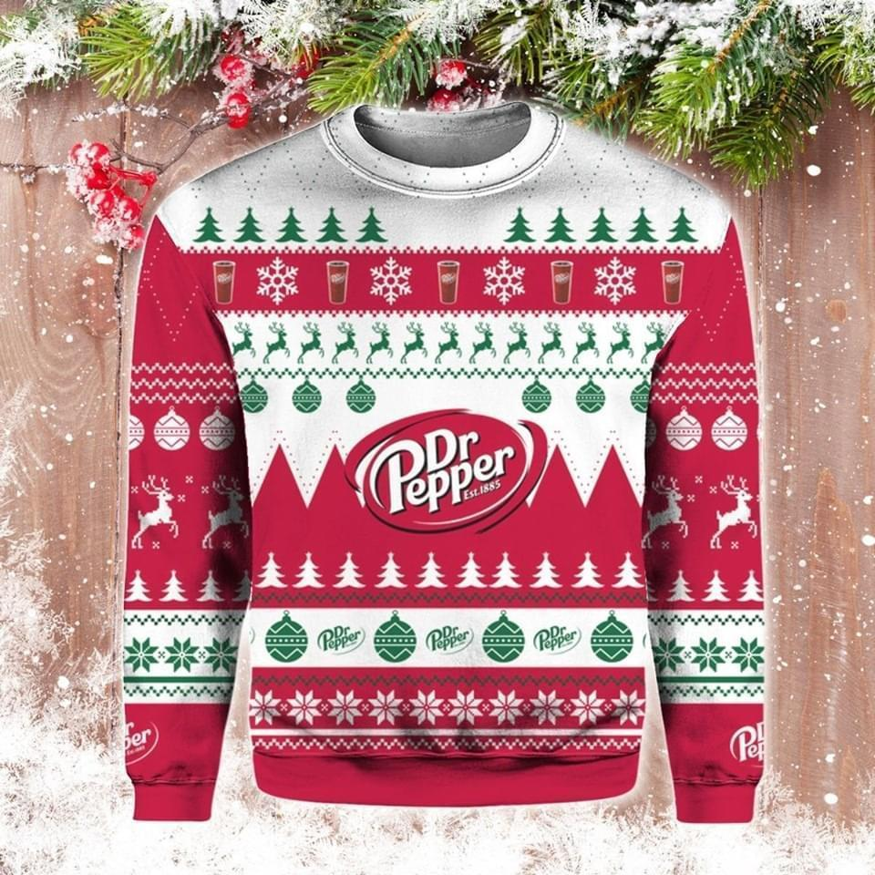 Dr Pepper Est 1885 Ugly Christmas 3d Printed Sweatshirt 3d 3d Graphic Printed Tshirt Hoodie Up To 5xl