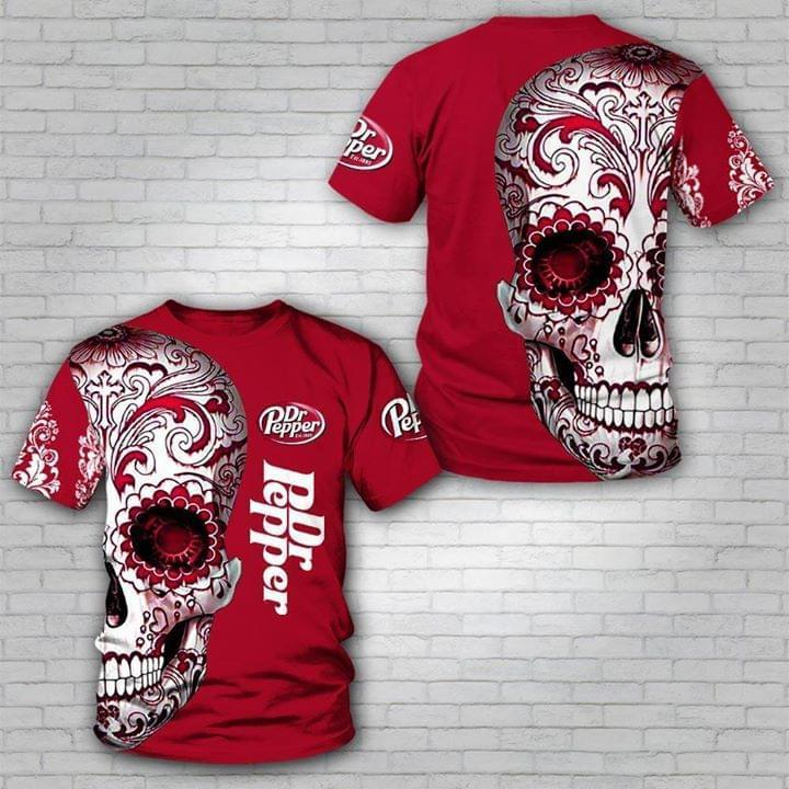 Dr Pepper Sugar Skull 3d Printed Shirt 3d Graphic Printed Tshirt Hoodie Up To 5xl