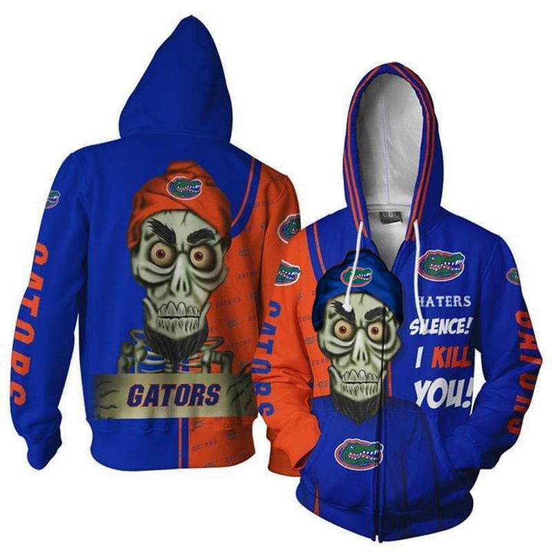Florida Gators Hater Silence I Kill You Achmed 3d Zip Hoodie 3d Graphic Printed Tshirt Hoodie Up To 5xl