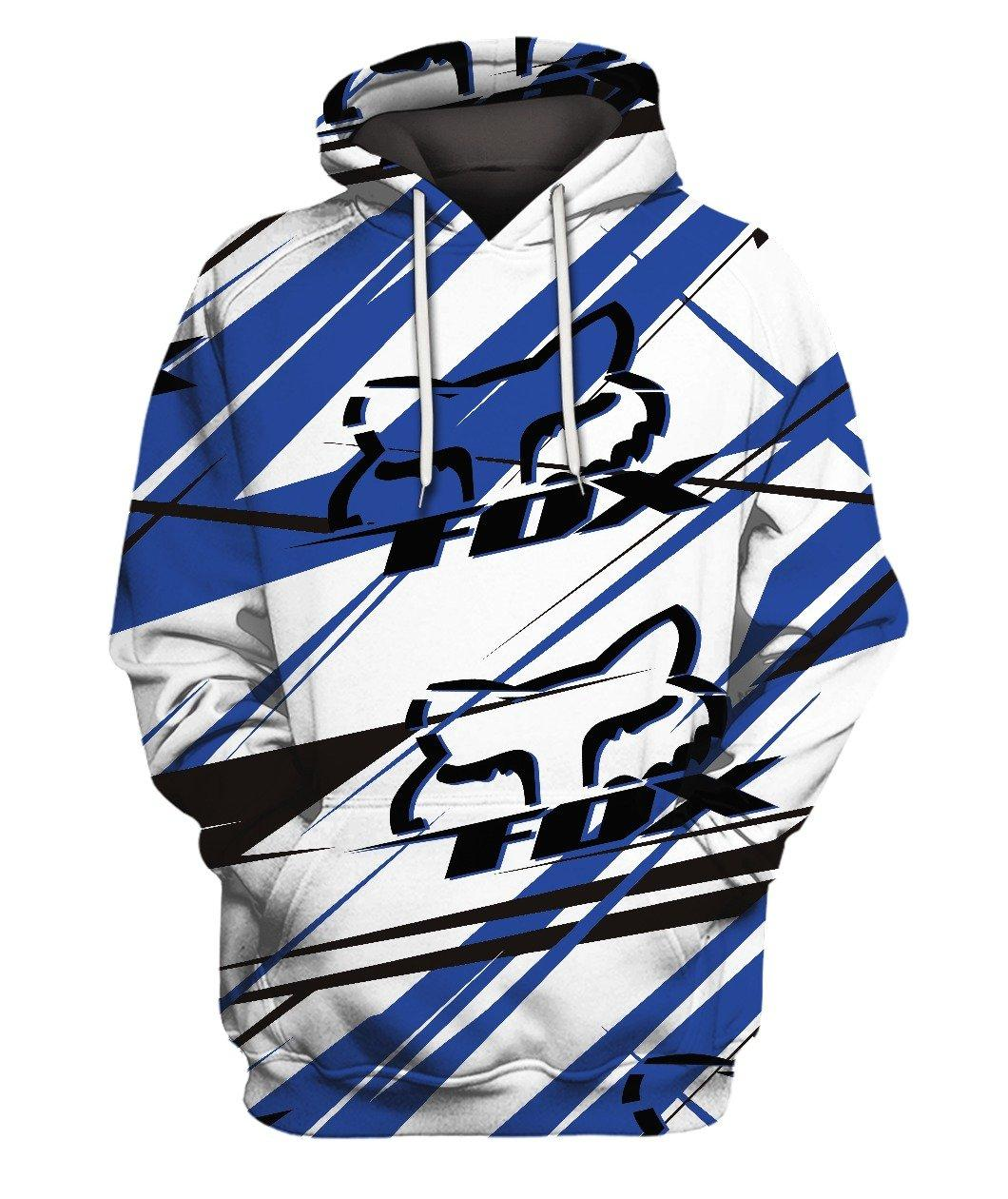 Fox Bike Blue 3d Full Print 3d Graphic Printed Tshirt Hoodie Up To 5xl
