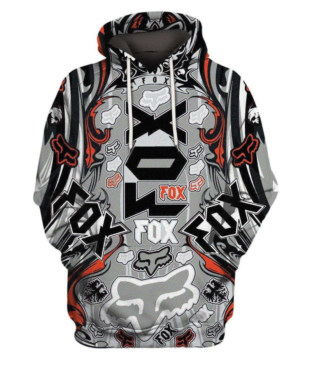 Fox Bike Grey 3d Full Print 3d Graphic Printed Tshirt Hoodie Up To 5xl