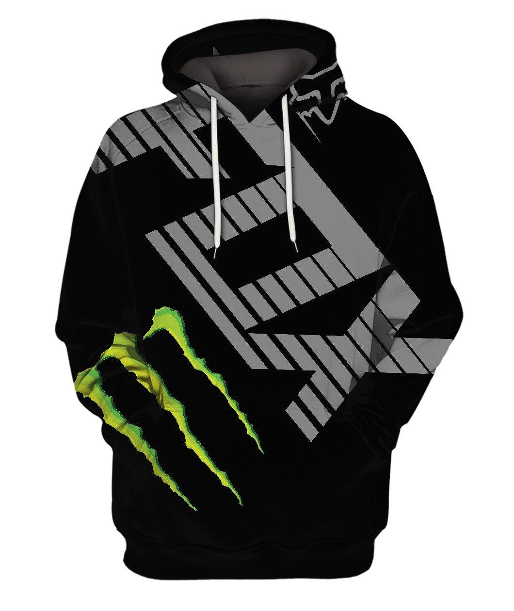 Fox Monster Black Full 3d 3d Graphic Printed Tshirt Hoodie Up To 5xl