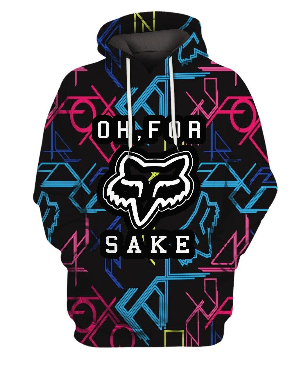 Fox Oh For Sake Full 3d 3d Graphic Printed Tshirt Hoodie Up To 5xl