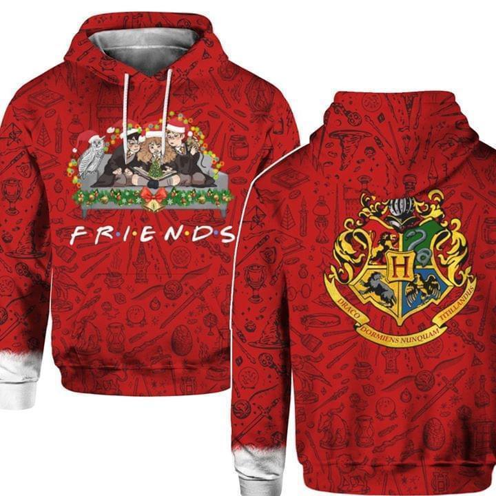 Friends Harry Potter Christmas 3d Hoodie Hoodie 3d 3d Graphic Printed Tshirt Hoodie Up To 5xl