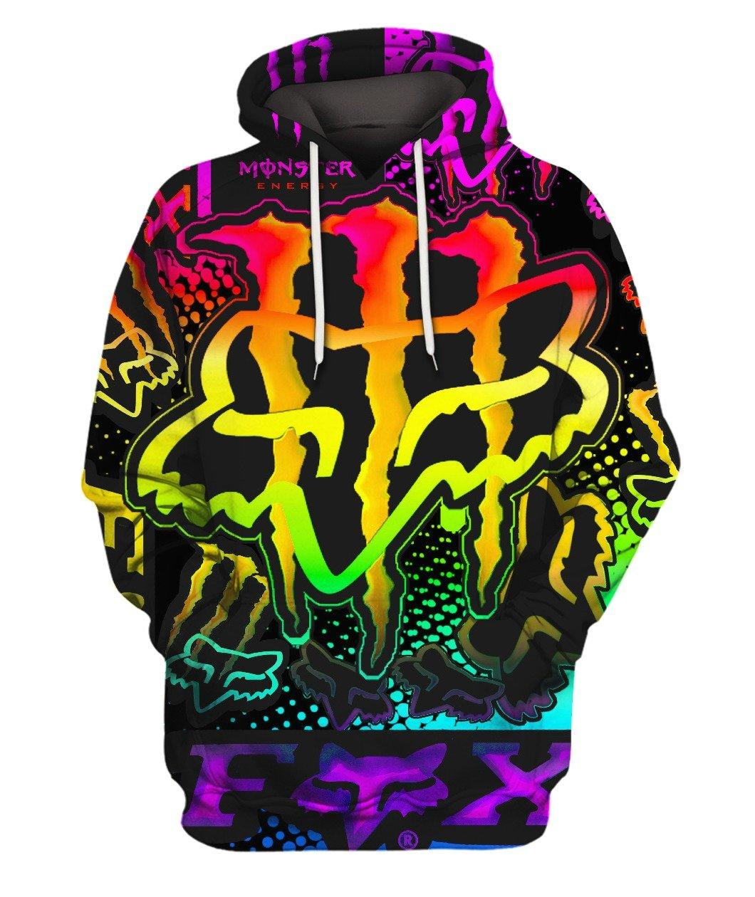 Full Fx Monster Rainbow Full 3d 3d Graphic Printed Tshirt Hoodie Up To 5xl